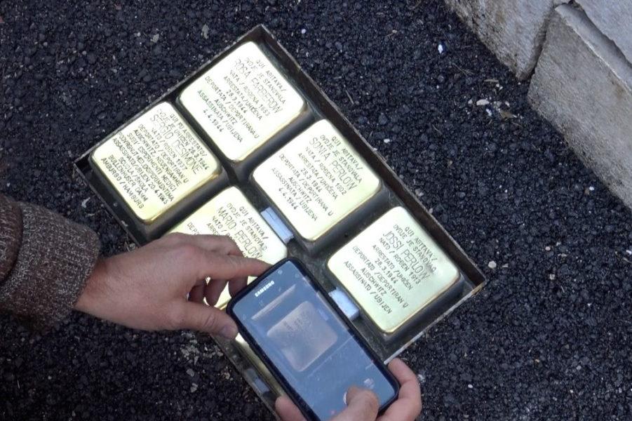 Kameni spoticanja u spomen na članove židovske obitelji Bucci