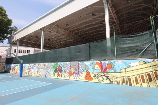 Ovogodišnja faza uređenja već započela oslikavanjem zida košarkaškog igrališta