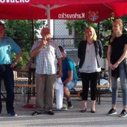 Vijećnici MO Grbci pozdravljaju građane na košarkaškom igralištu