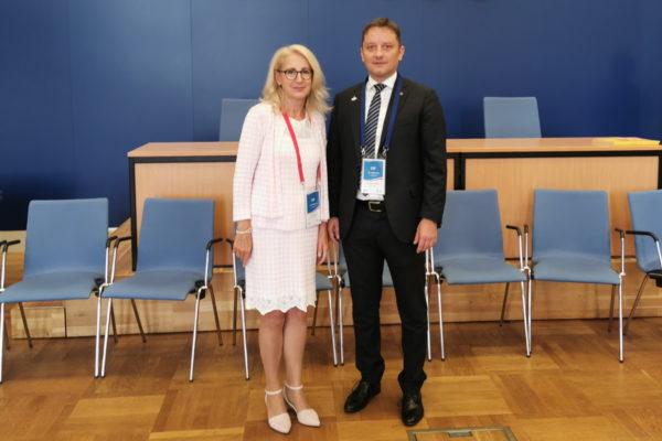 Andrej Poropat, predsjednik Gradskog vijeća Grada Rijeke, susreo se s novoizabranom predsjednicom Gradskog vijeća Hanzeatskog i sveučilišnog grada Rostocka Reginom Lück