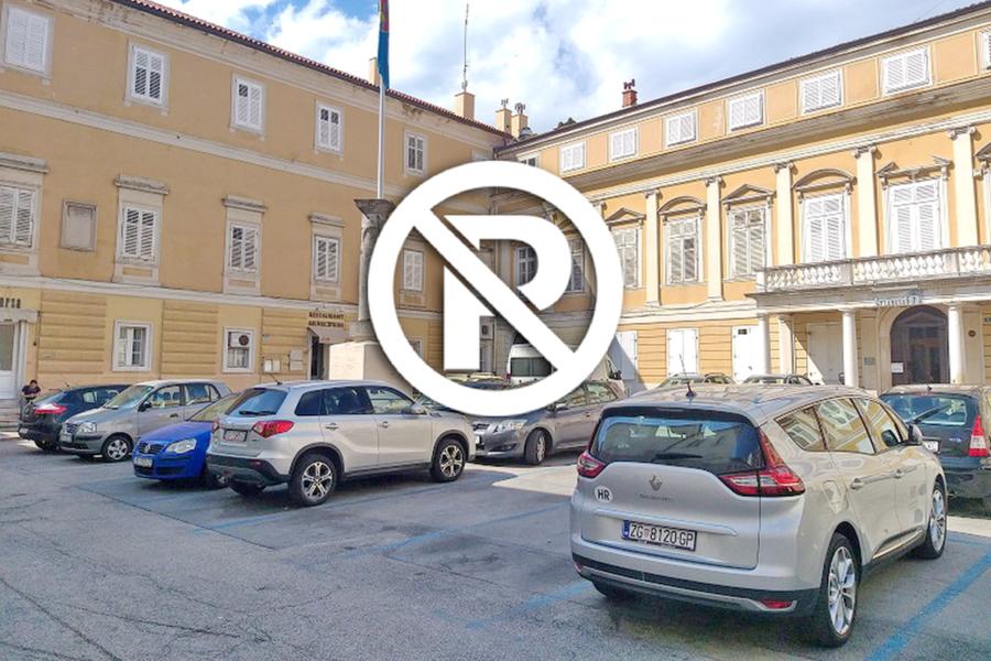 Na Trgu Riječke rezolucije uvodi se trajna zabrana parkiranja