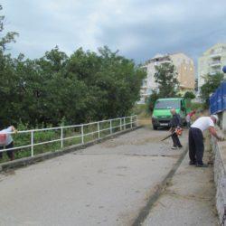 Uređivanje platoa u Dražičkoj ulici - MO Grbci 2019.