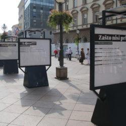 Na Korzu postavljena izložba o nasilju nad ženama