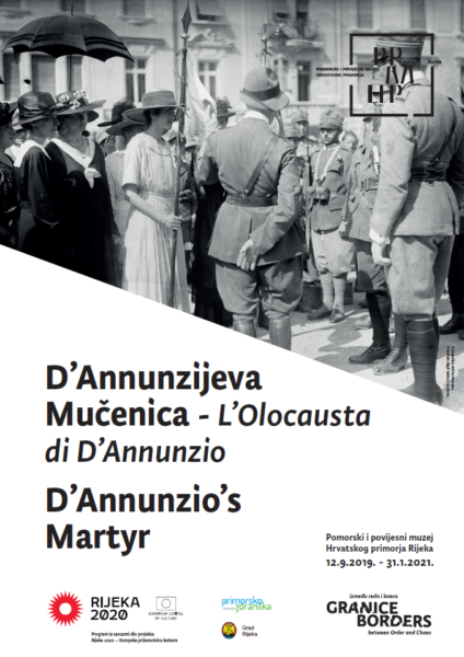 Plakat - izložba D'Annunzijeva mulenica