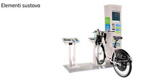 Elementi sustava: postolje, pilon i e-bicikl
