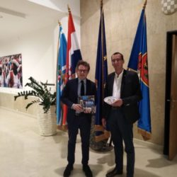 Zamjenik gradonačelnika Faenze Massimo Isola i zamjenik Marko Filipović