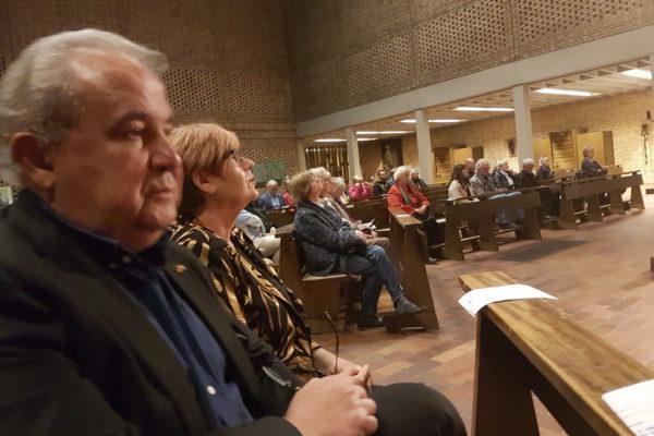 Nikola Ivaniš i Mirjana Diminić na otvaranju izložbe u crkvi sv. Michaela
