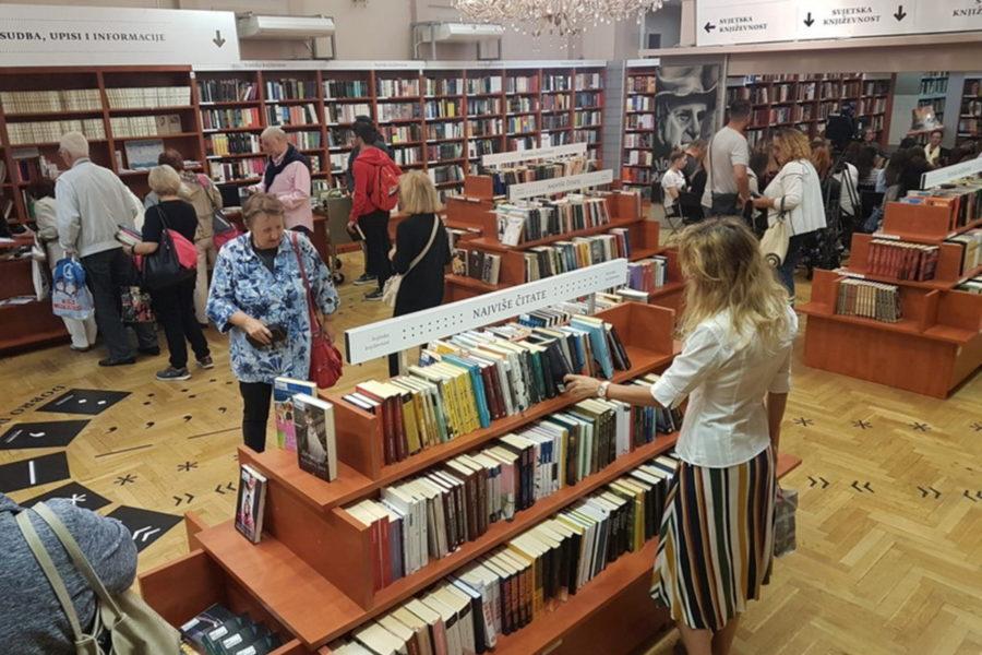 Gradska knjižnica Rijeka - odjel beletristike u Filodrammatici
