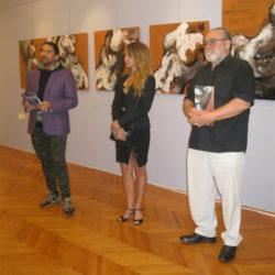 Otvaranje izložbe Georgette Yvette Ponté u galeriji Hrvatskog doma Sv. Kuzam
