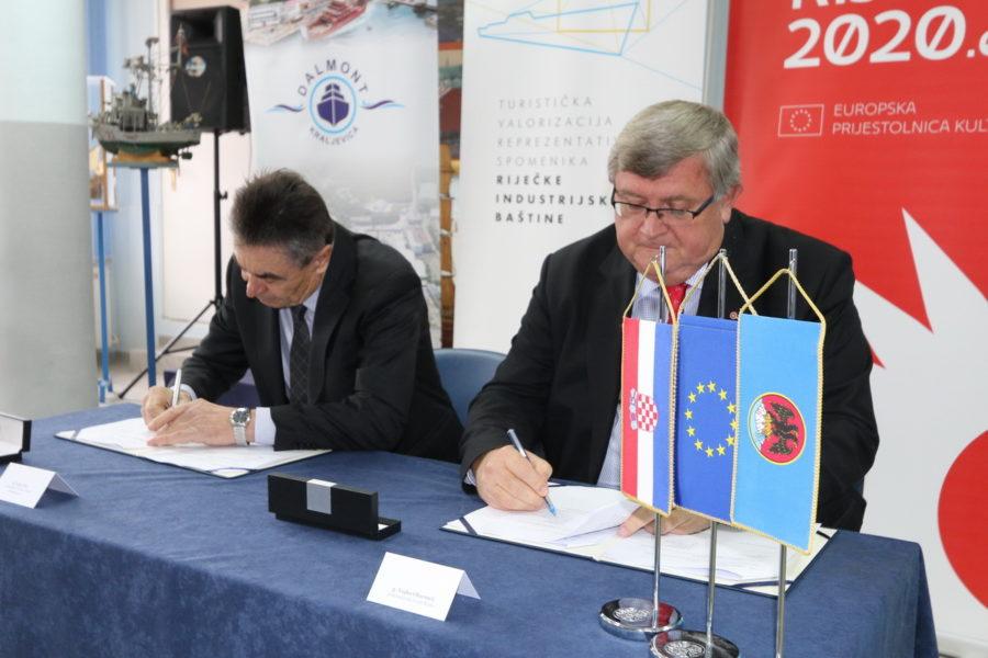 Potpisivanje ugovora s Dalmontom - obnova broda Galeb