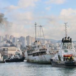 Brod Galeb otegljen u brodogradilište u Kraljevici