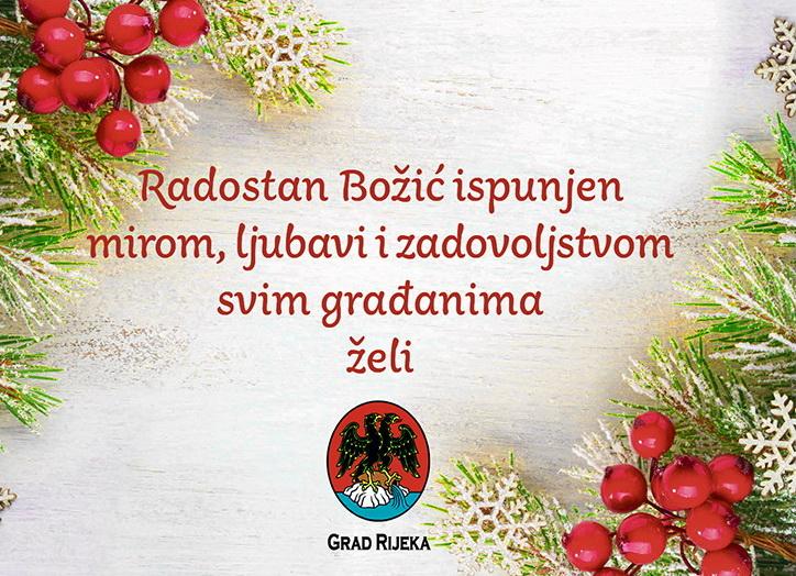 Grad Rijeka čestitka za Božić