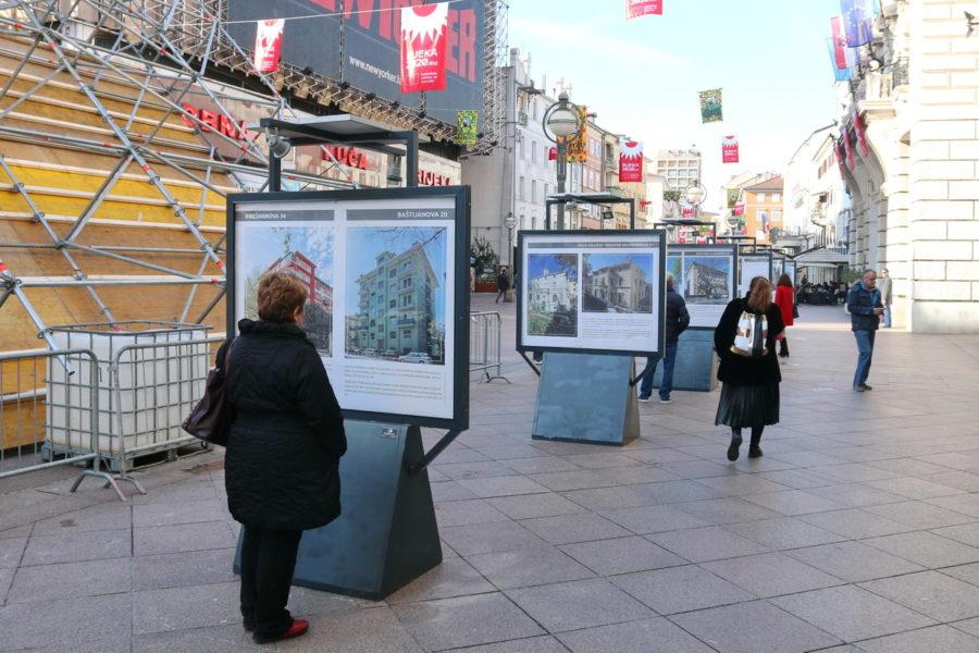 Izložba o obnovljenim riječkim pročeljima na Korzu