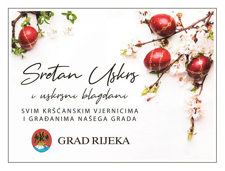 Čestitka Uskrs Grad Rijeka 2020