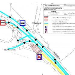 Prometovanje autobusa 3 faze etapa B - radovi u Krešimirovoj ulici