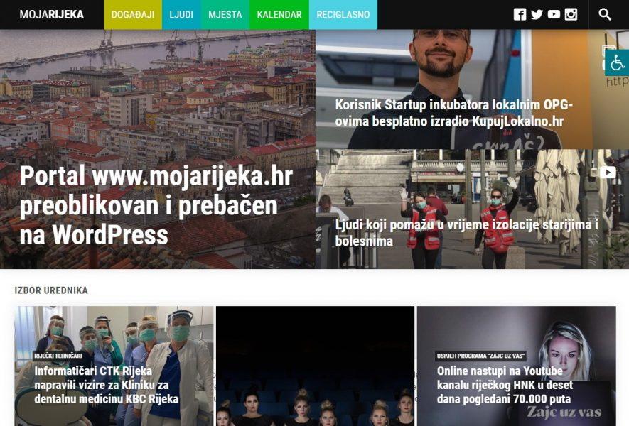 Redzajniran portal Moja Rijeka