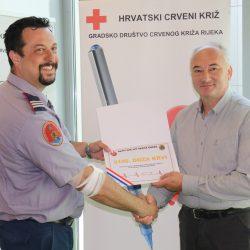 Od 1978. godine prikupljeno je 5100 doza krvi, a čast da daruje jubilarnu dozu imao je Hinko Mance, zapovjednik JVP Grada Rijeke