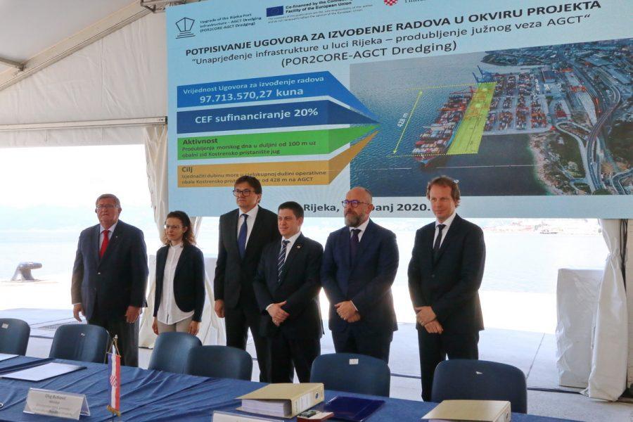 Potpisani ugovori za izvođače radova na cesti DC403 i produbljavanja Kostrenskog pristaništa1