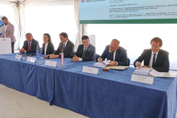 Potpisivanje ugovora s izvođačem radova na 456 milijuna kuna vrijednoj cesti DC403