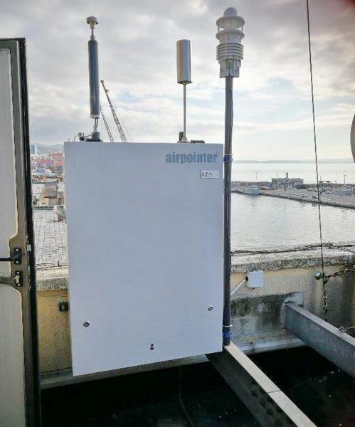 AirPointer za mjerenje kvalitete zraka na mjernoj stanici u riječkoj luciAirPointer za mjerenje kvalitete zraka na mjernoj stanici u riječkoj luci