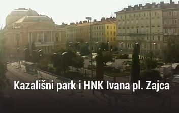 Kazališni park i HNK Ivana pl. Zajca