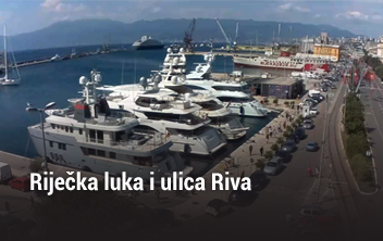 Riječka luka i ulica Riva