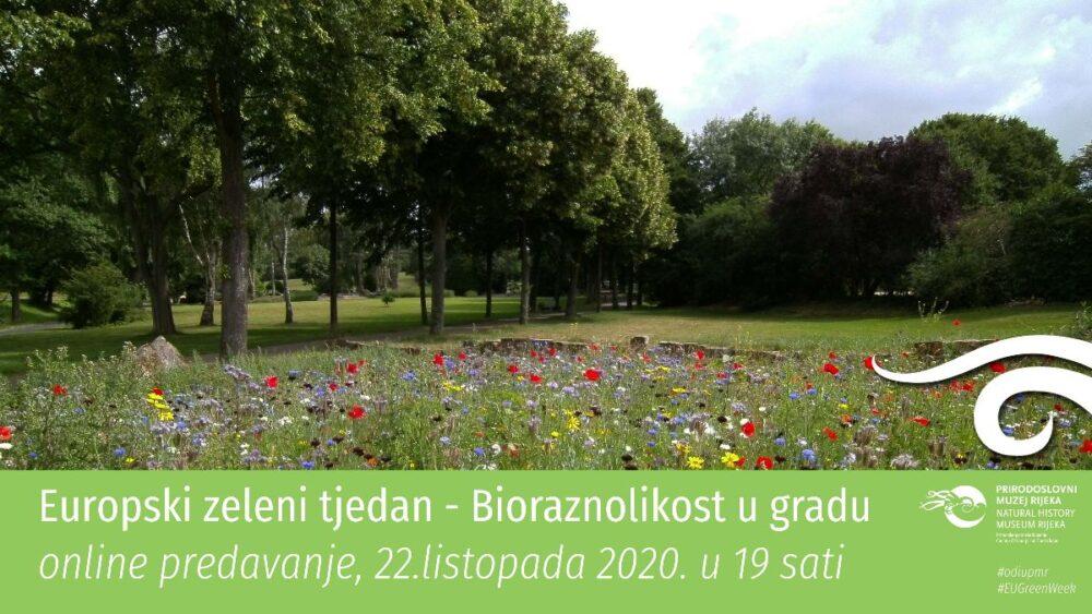 Online predavanje Bioraznolikost u gradu