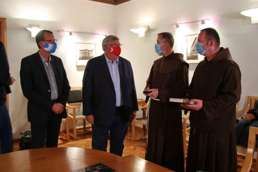 Prijem za dosadašnjeg i novog gvardijana Trsatskog svetišta