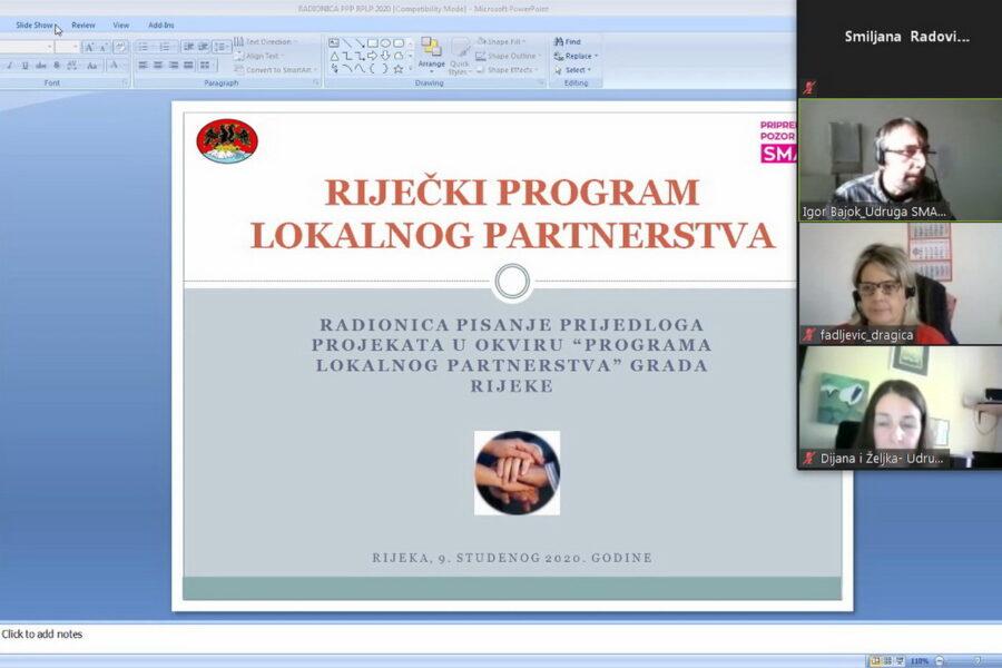 Održana online radionica o pisanju projekata za RPLP