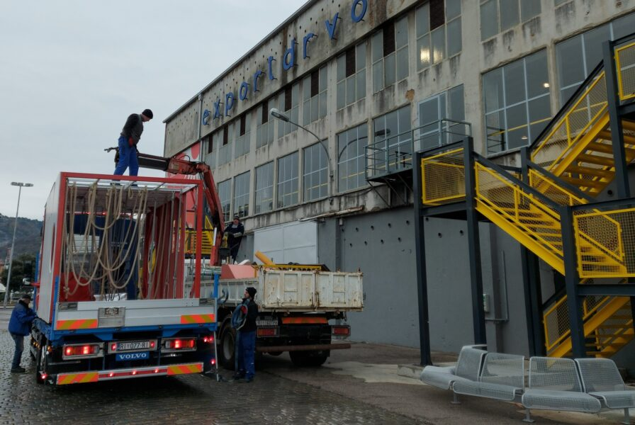 Transport Balhazarovog igrališta do Exporta