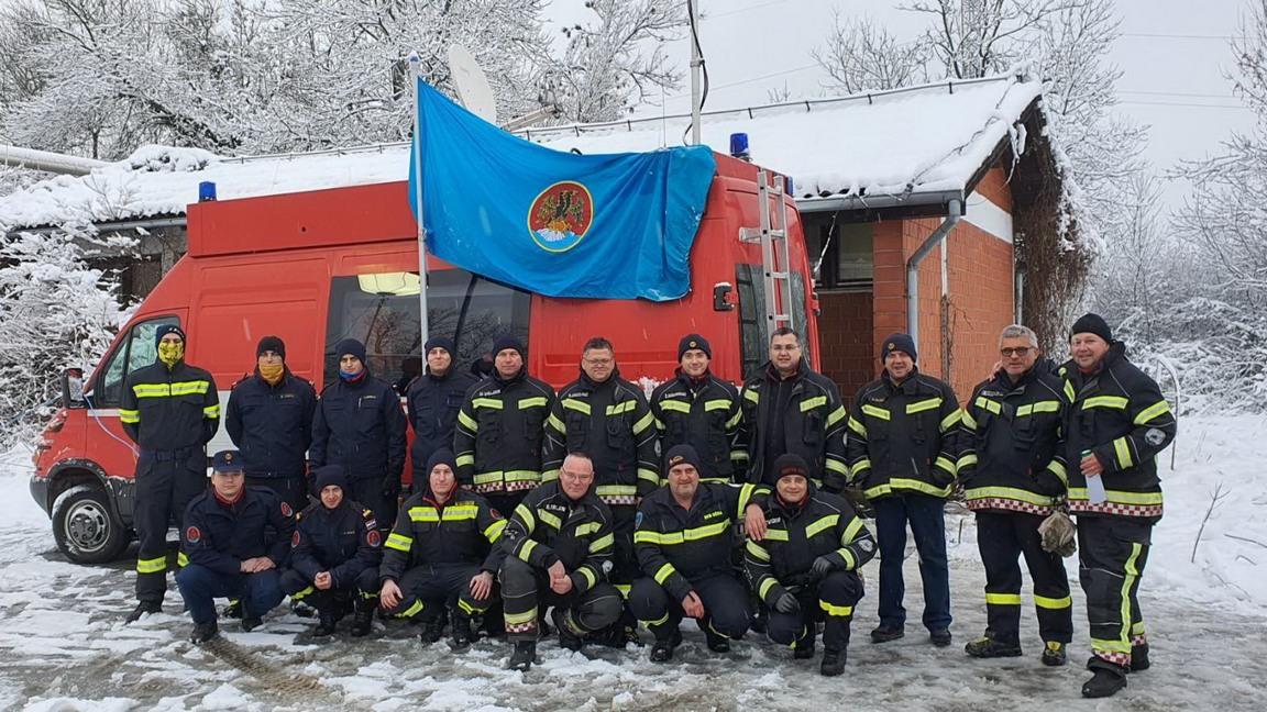 Javna vatrogasna postrojba Grada Rijeke na terenu u Petrinji