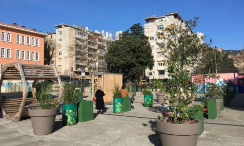 Klobučarićev trg ima nove žardinjere s biljem