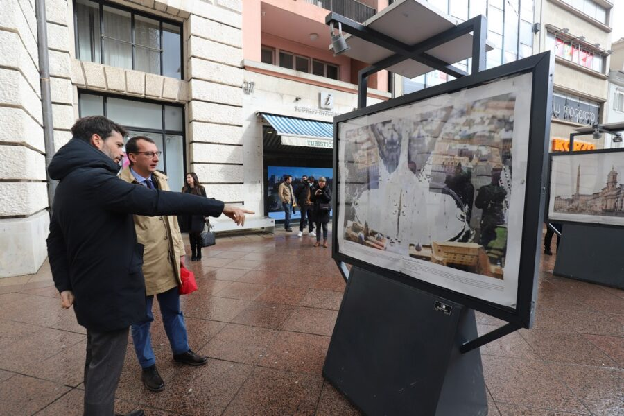 Davide Bradanini i Marko Filipović u obilasku izložbe