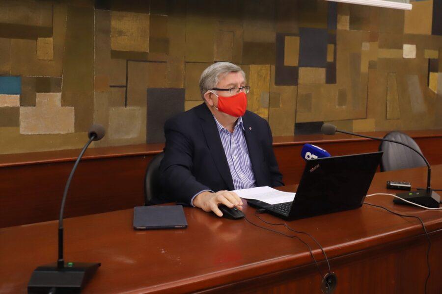 Gradonačelnik Vojko Obersnel na kolegiju