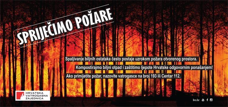 Spaljivanje biljnog otpada Hrvatska vatrogasna zajednica
