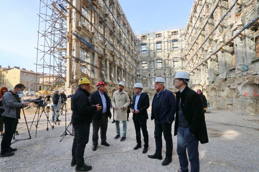 Obilazak gradilišta nove gradske knjižnice u sklopu kompleksa Benčić
