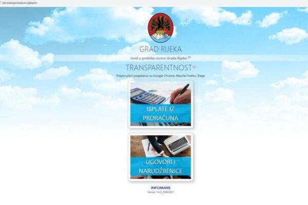 Aplikacija Otvoreni proračun Grada Rijeke