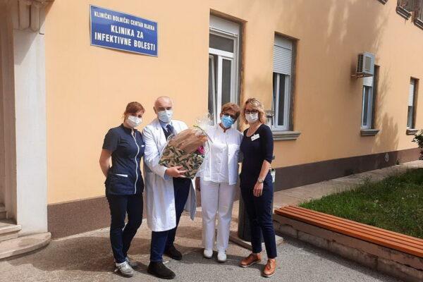 Zahvala djelatnika KBC-a Rijeka na čelu s ravnateljem dr. Ružićem