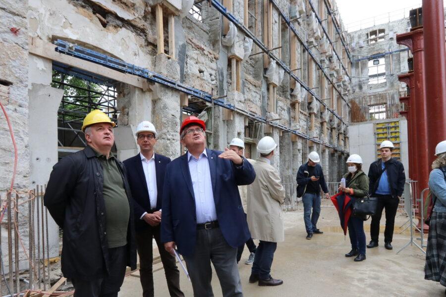 Obilazak gradilišta Gradske knjižnice Rijeka