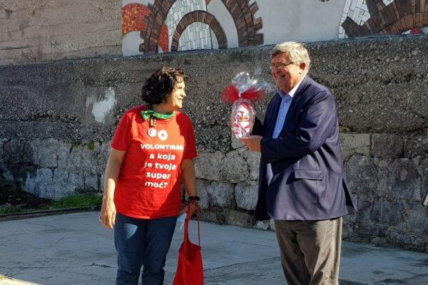 Zahvala volontera gradonačelniku Obersnelu