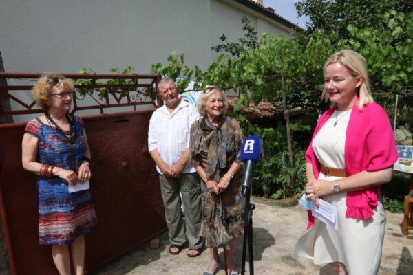 Vesna Lukanović, gospodin Portner, Stela Grohovac Maček i Sandra Krpan