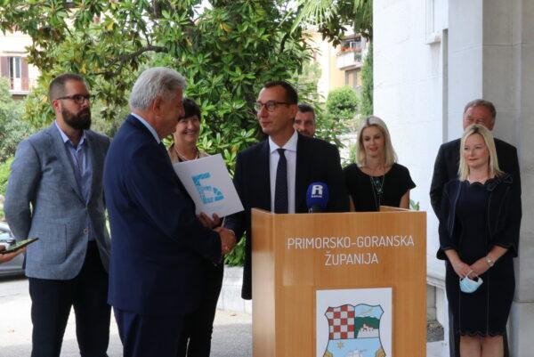 Gradonačelnik Filipović predao spisak projekata za zajedničku suradnju županu Komadini
