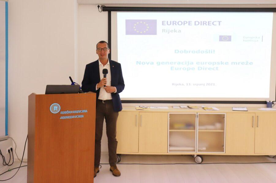 Marko Filipović - otvaranje centra Europe Direct Rijeka