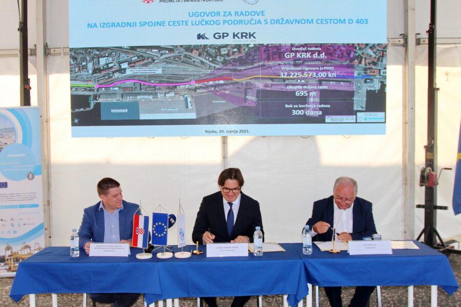 Potpis Ugovora o izgradnji spojne ceste lučkog područja s državnom cestom D403