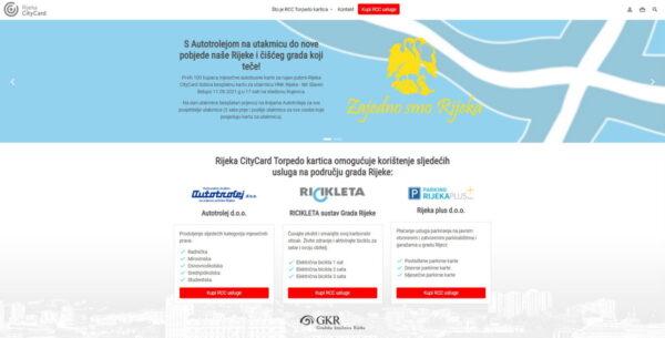 Web stranica Rijeka City Card