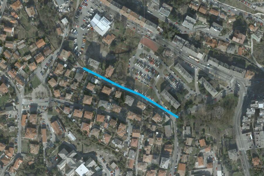 Planirani vodovodni ogranak u ulici Mire Radune Ban